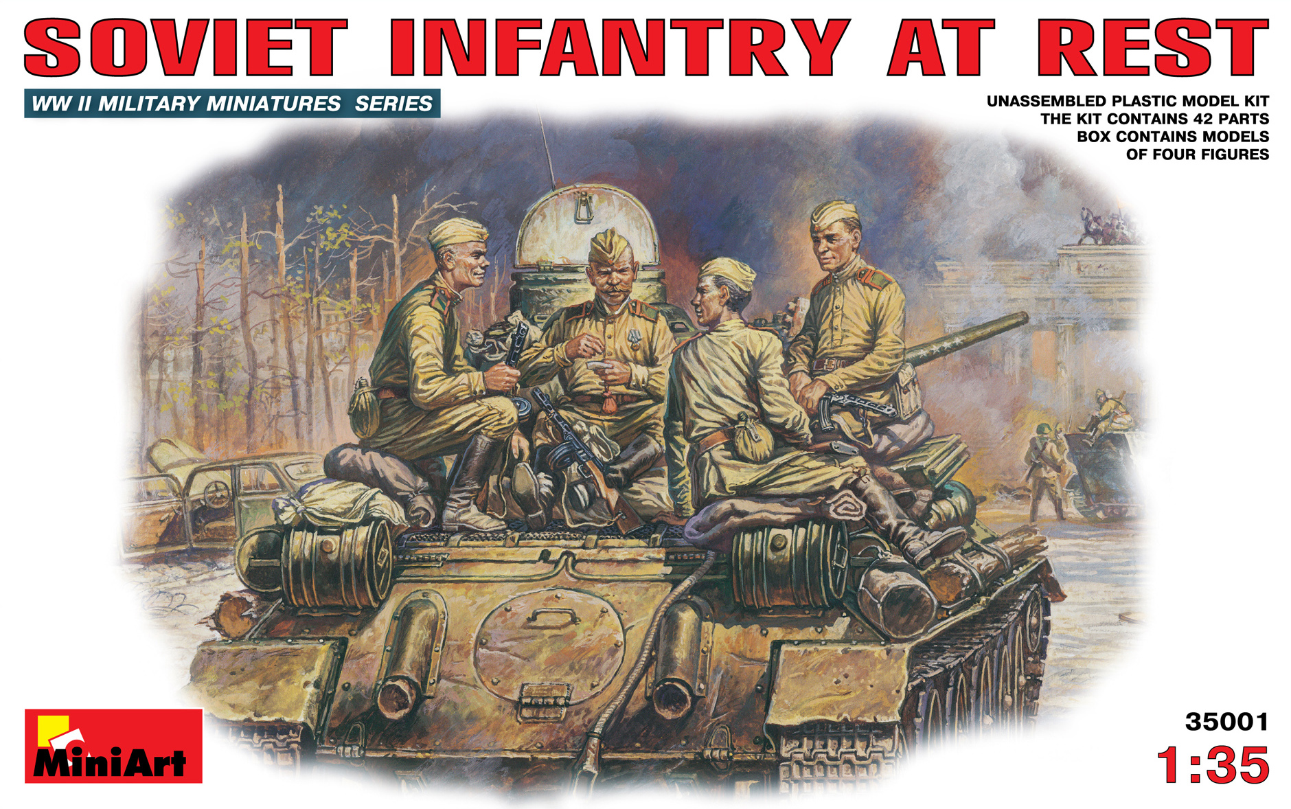 35001 SOVIET INFANTRY AT REST (1943-45)