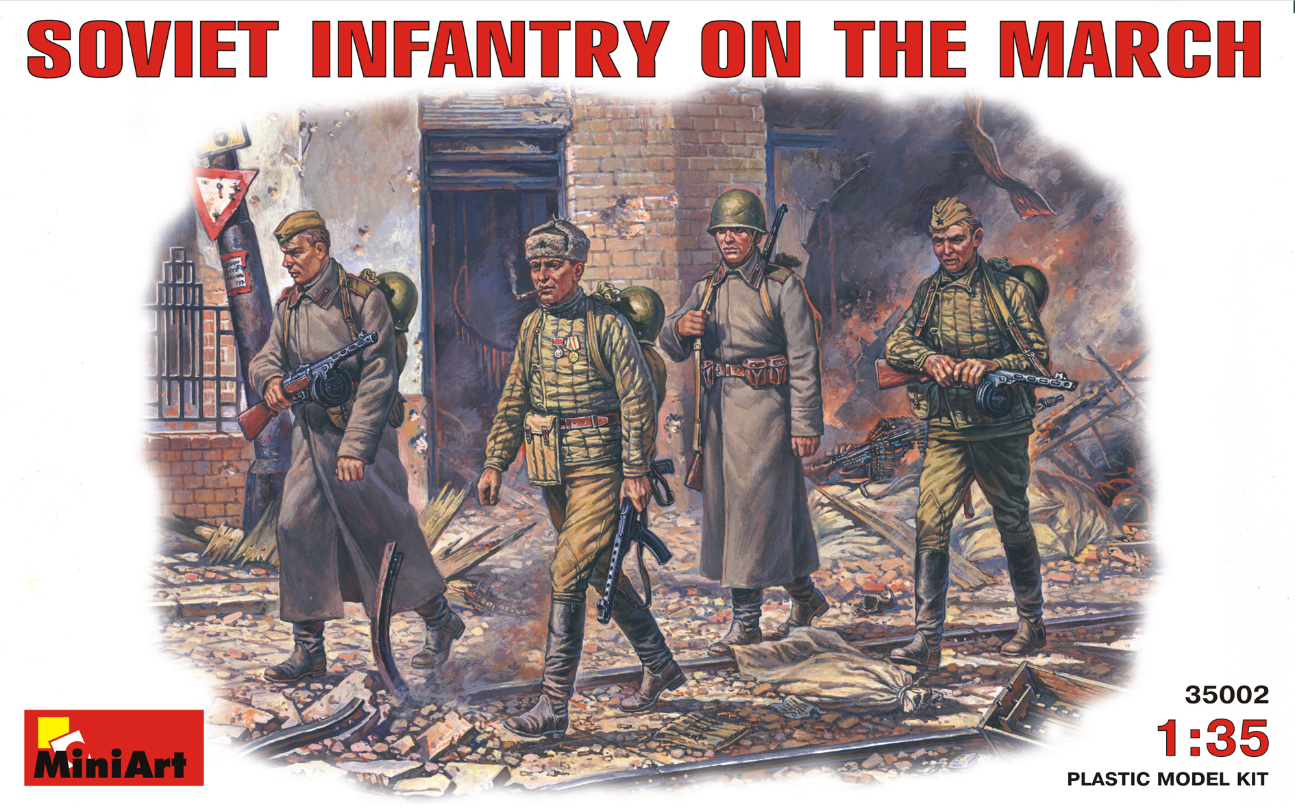 SOVIET INFANTRY ON THE MARCH