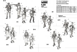 Content box 35002 SOVIET INFANTRY ON THE MARCH