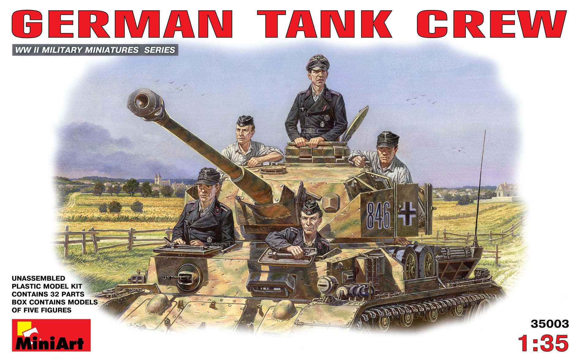 35003 ドイツ戦車兵 車乗シーンフィギュア5体入