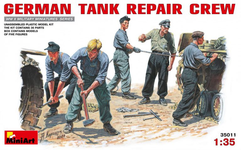 35011 GERMAN TANK REPAIR CREW