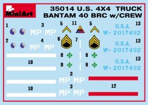 Content box 35014 U.S. TRUCK BANTAM 40 BRC w/CREW