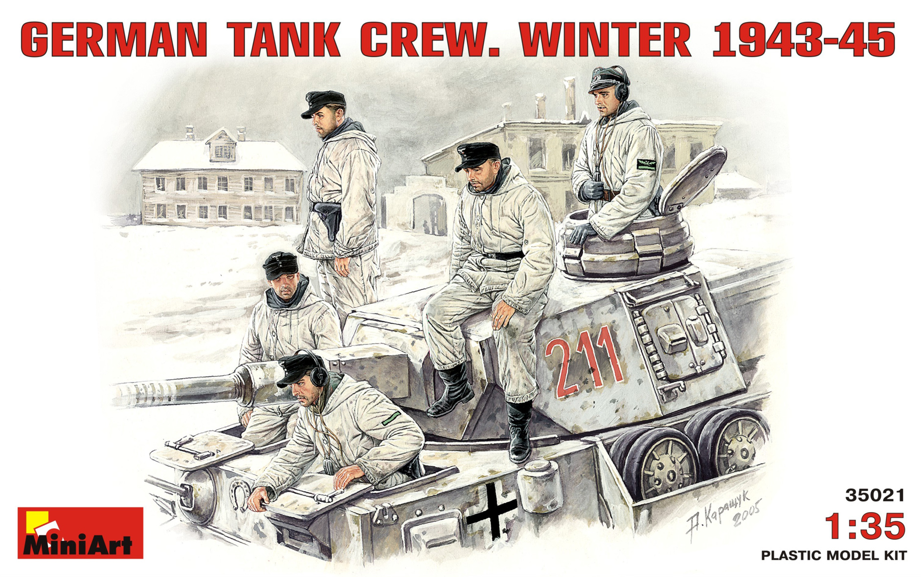 35021 GERMAN TANK CREW. WINTER 1943-45