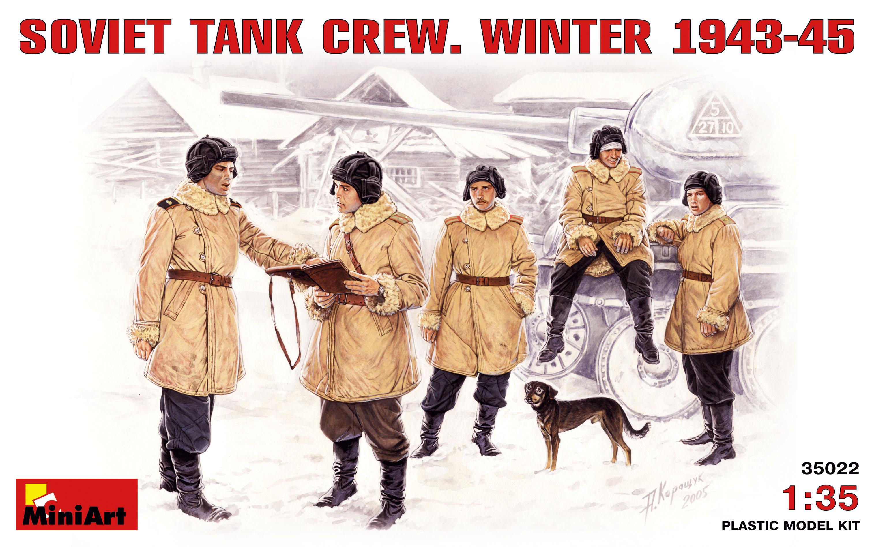 SOVIET TANK CREW. WINTER 1943-45
