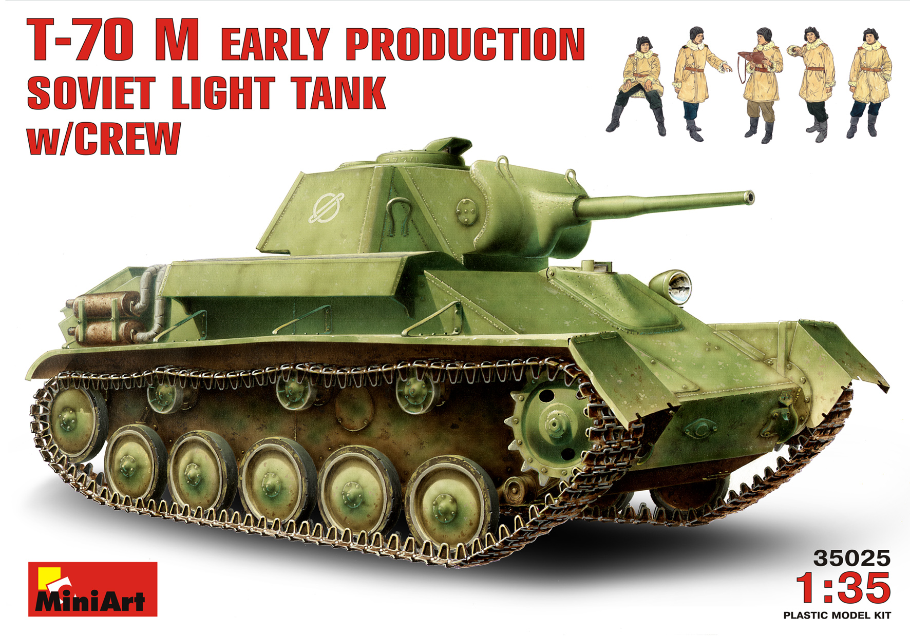 T-70M EARLY PRODUCTION SOVIET LIGHT TANK w/CREW