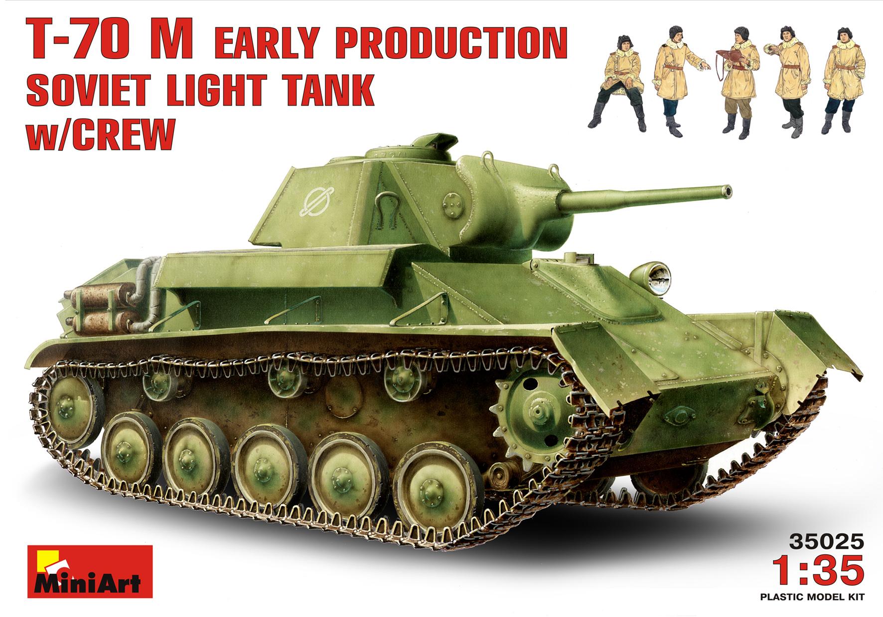 T-70M EARLY PRODUCTION SOVIET LIGHT TANK w/CREW