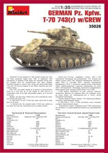 Content box 35026 GERMAN Pz. Kpfw. T-70 743(r) w/CREW