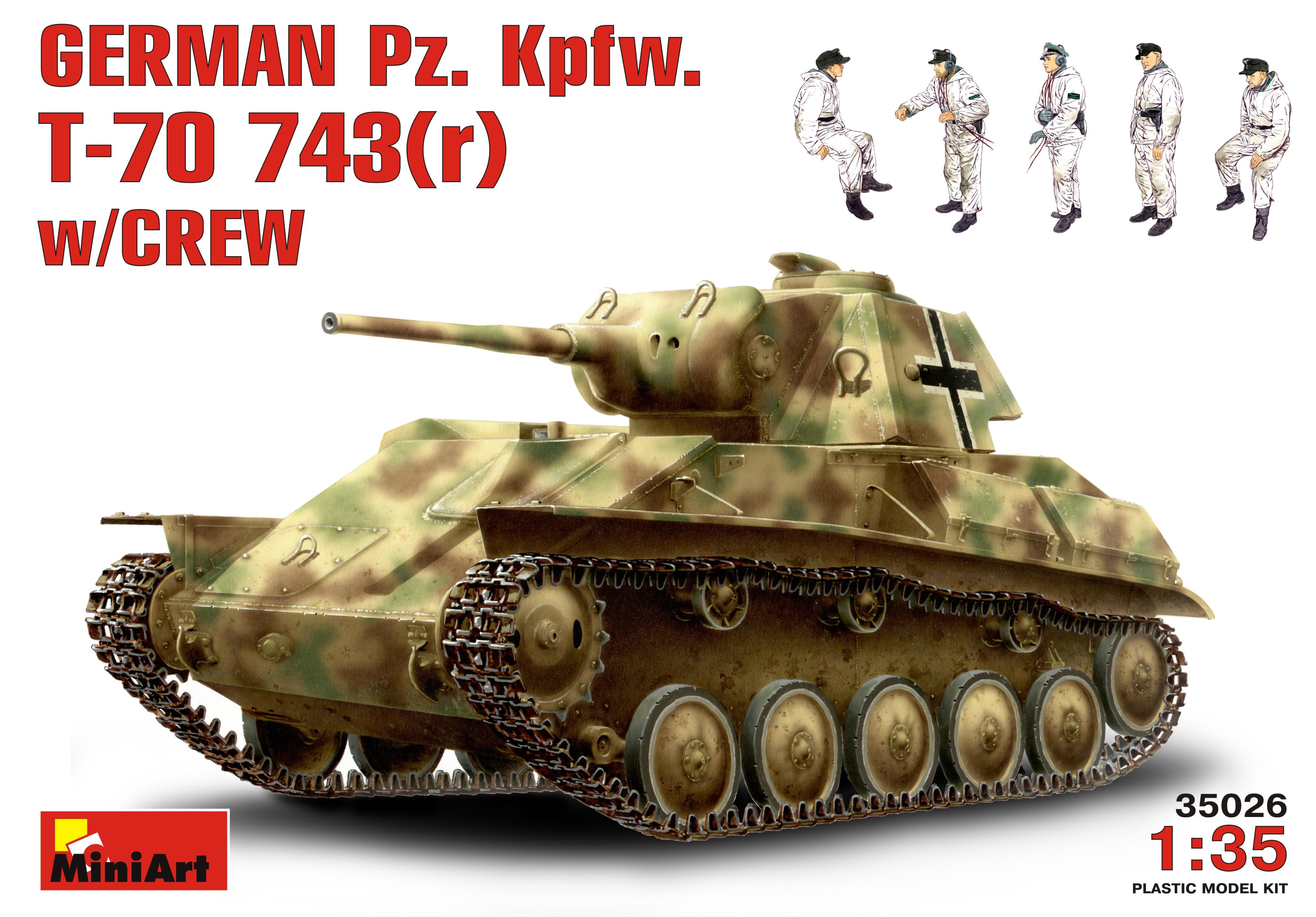 GERMAN Pz. Kpfw. T-70 743(r) w/CREW