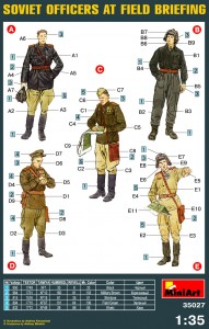 Content box 35027 SOVIET OFFICERS AT FIELD BRIEFING