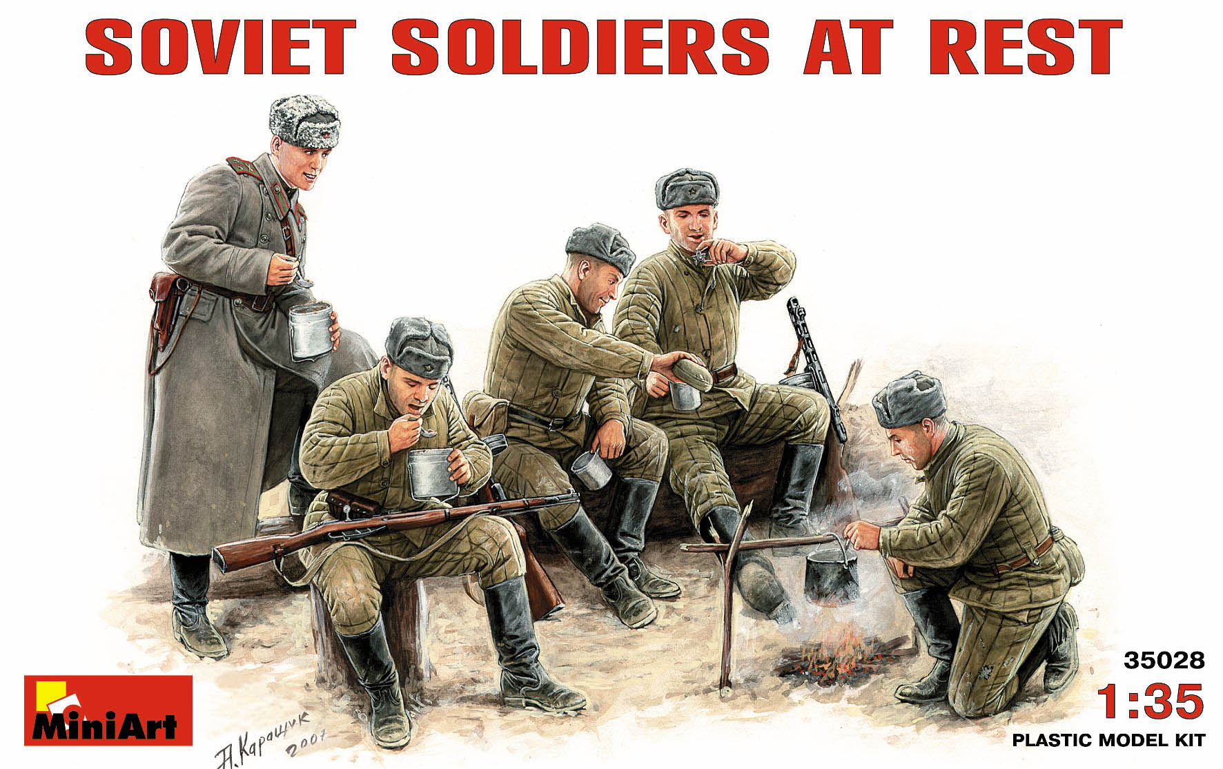 35028 SOVIET SOLDIERS AT REST
