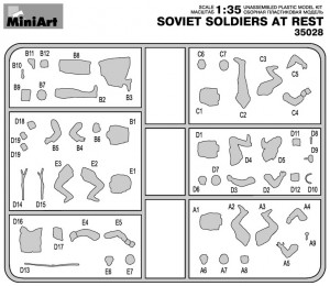 Content box 35028 SOVIET SOLDIERS AT REST