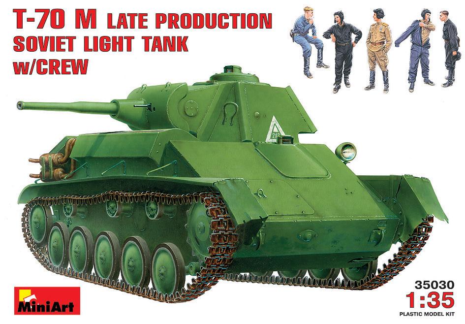 SOVIET LIGHT TANK T-70M Late Prod. w/CREW