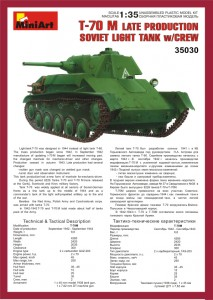 Content box 35030 SOVIET LIGHT TANK T-70M Late Prod. w/CREW