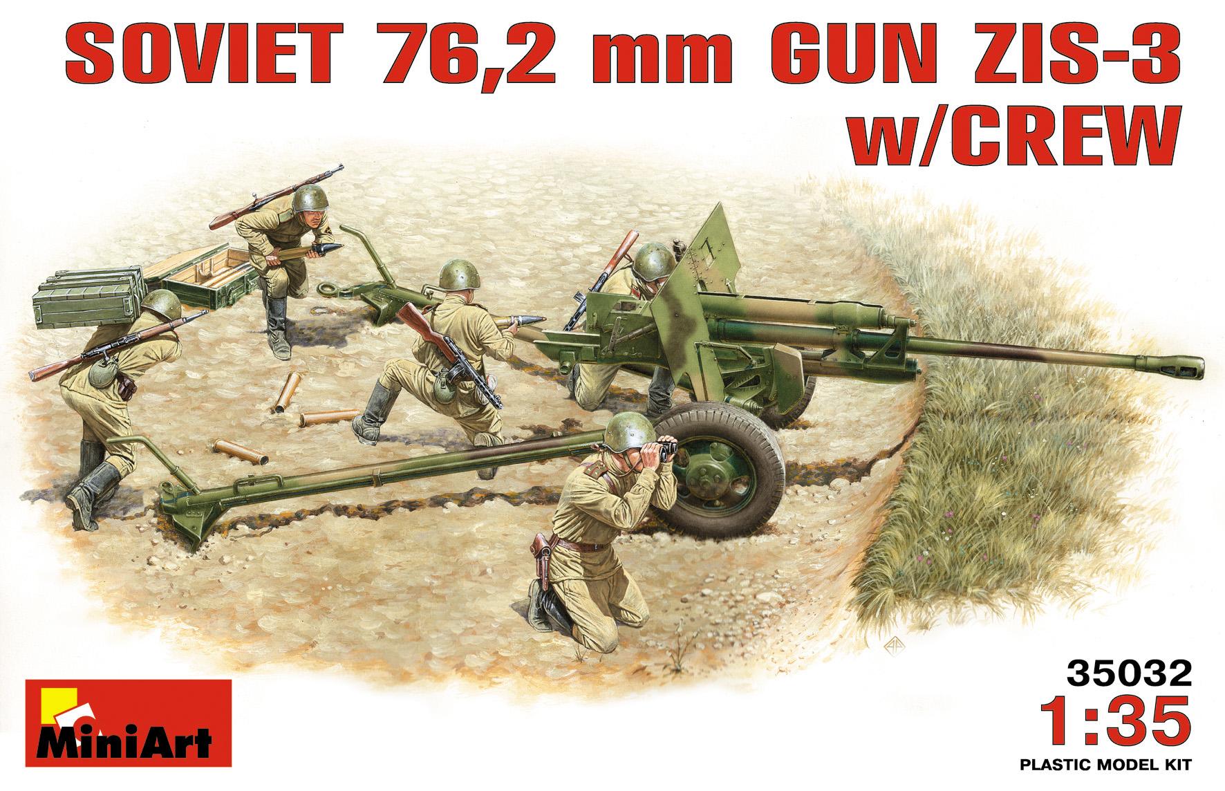 35032 SOVIET 76,2 mm DIV. FIELD GUN ZIS-3 w/CREW