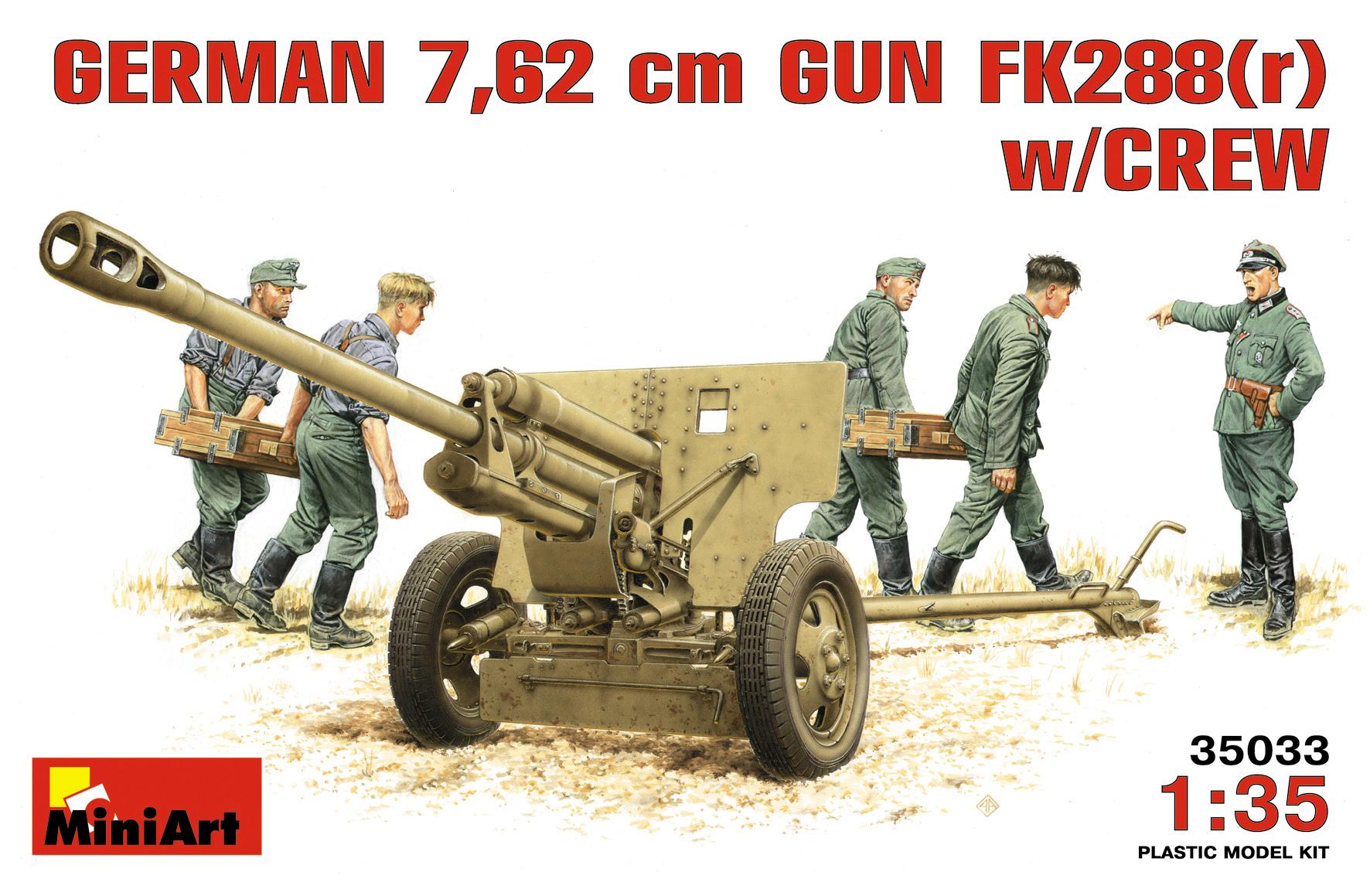35033 GERMAN 7,62 сm GUN FK288(r) w/CREW