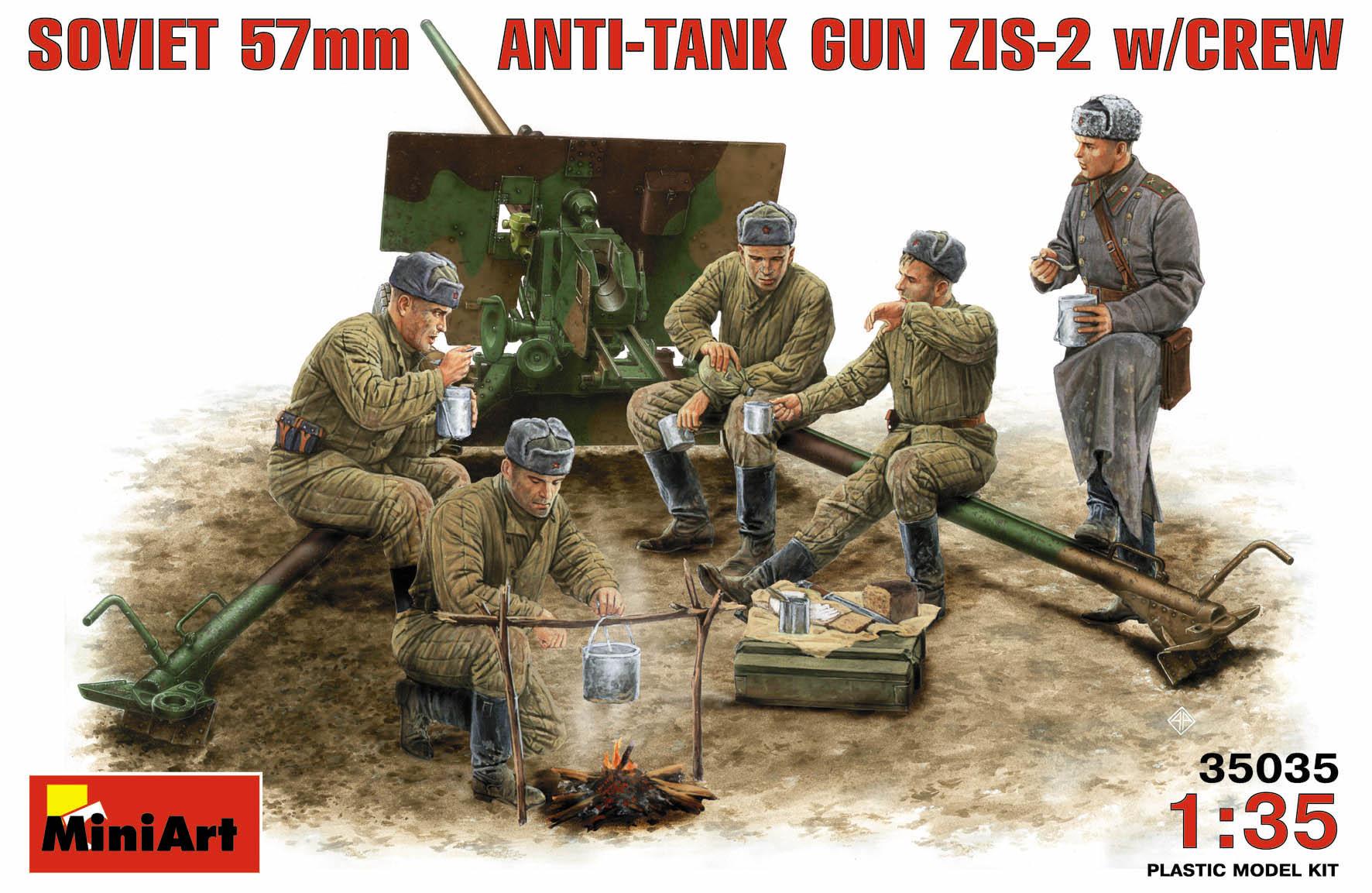 SOVIET 57mm ANTI-TANK GUN ZIS-2 w/CREW