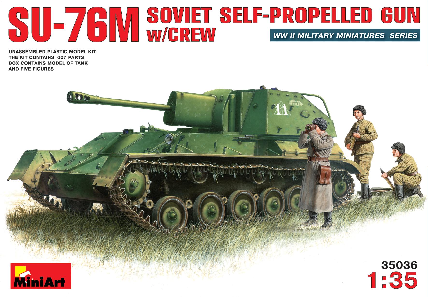 SU-76M SOVIET SELF-PROPELLED GUN w/CREW