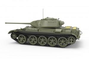 3D renders 37002 T-44M SOVIET MEDIUM TANK