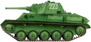 Side views 35030 苏联轻型坦克T-70M 晚期型
