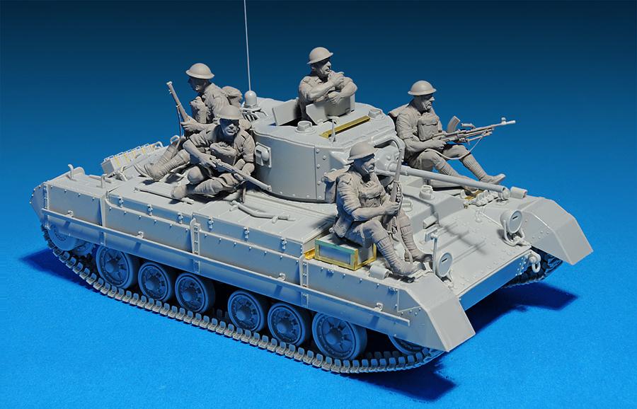 35116 BRITISH INFANTRY TANK VALENTINE Mk.I w/CREW