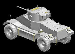 3D renders 35152 AEC Mk.I ARMOURED CAR