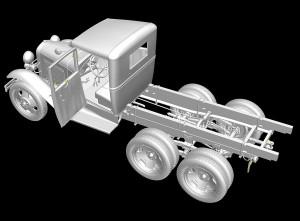 3D renders 35127 GAZ-AAA CARGO TRUCK