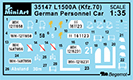 Content box 35147 L1500A (Kfz.70) GERMAN PERSONNEL CAR