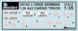 Content box 35142 MB 1500S GERMAN 1,5t CARGO TRUCK