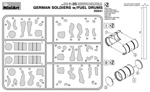 Content box 35041 GERMAN SOLDIERS w/FUEL DRUMS