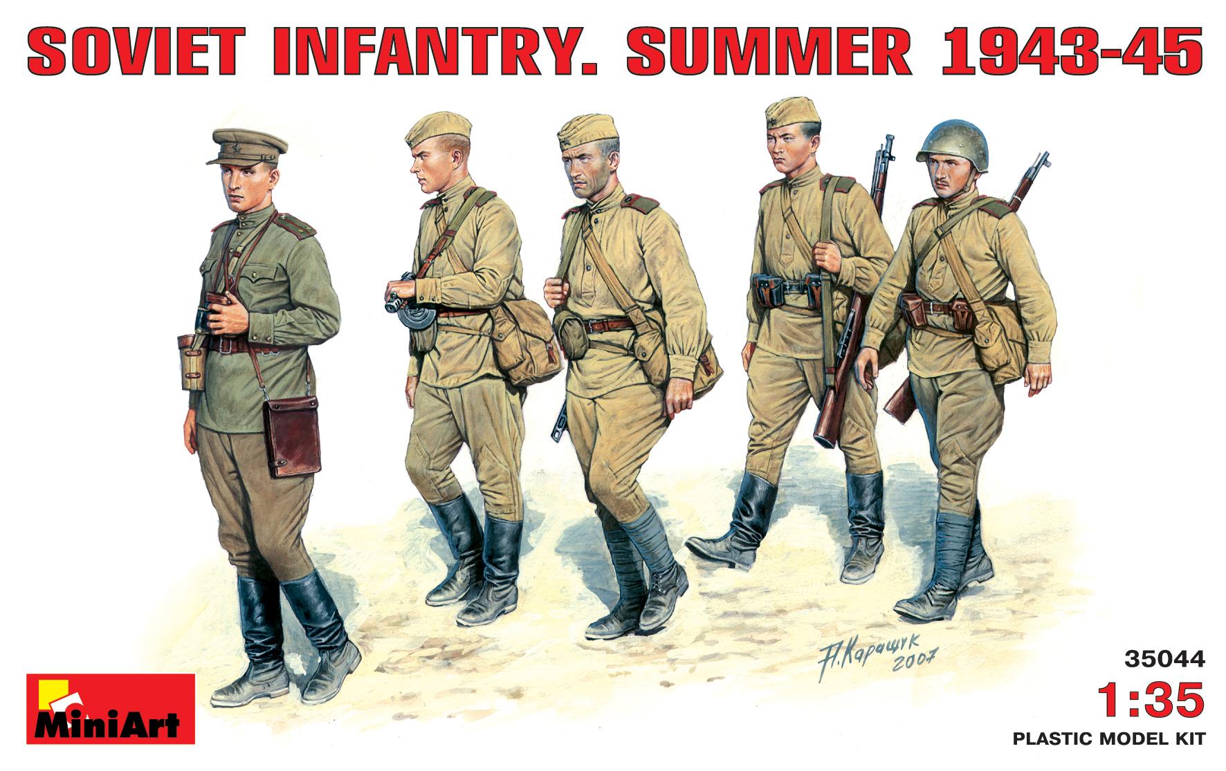 35044 SOVIET INFANTRY. SUMMER 1943-45