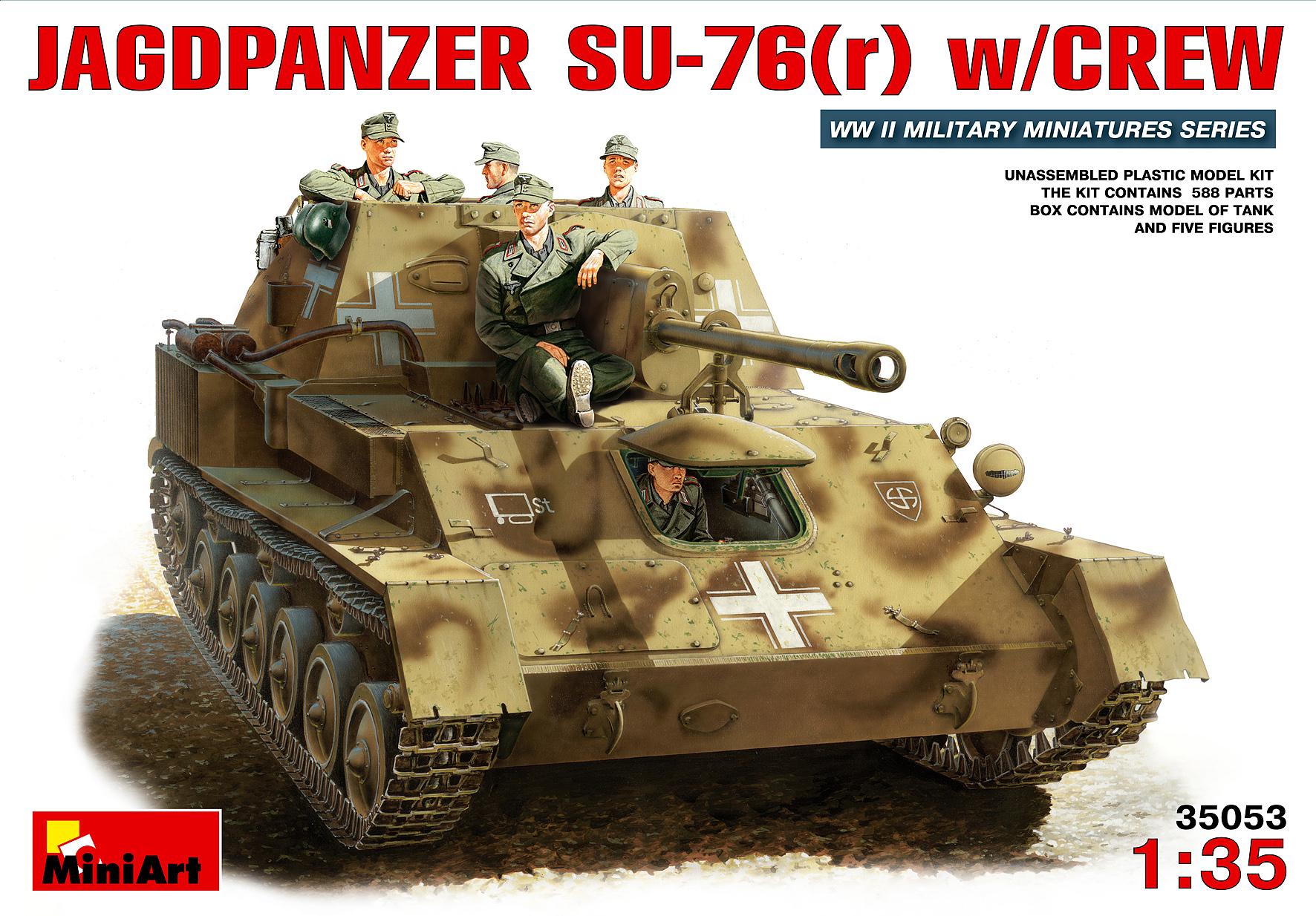 JAGDPANZER SU-76(r) w/CREW