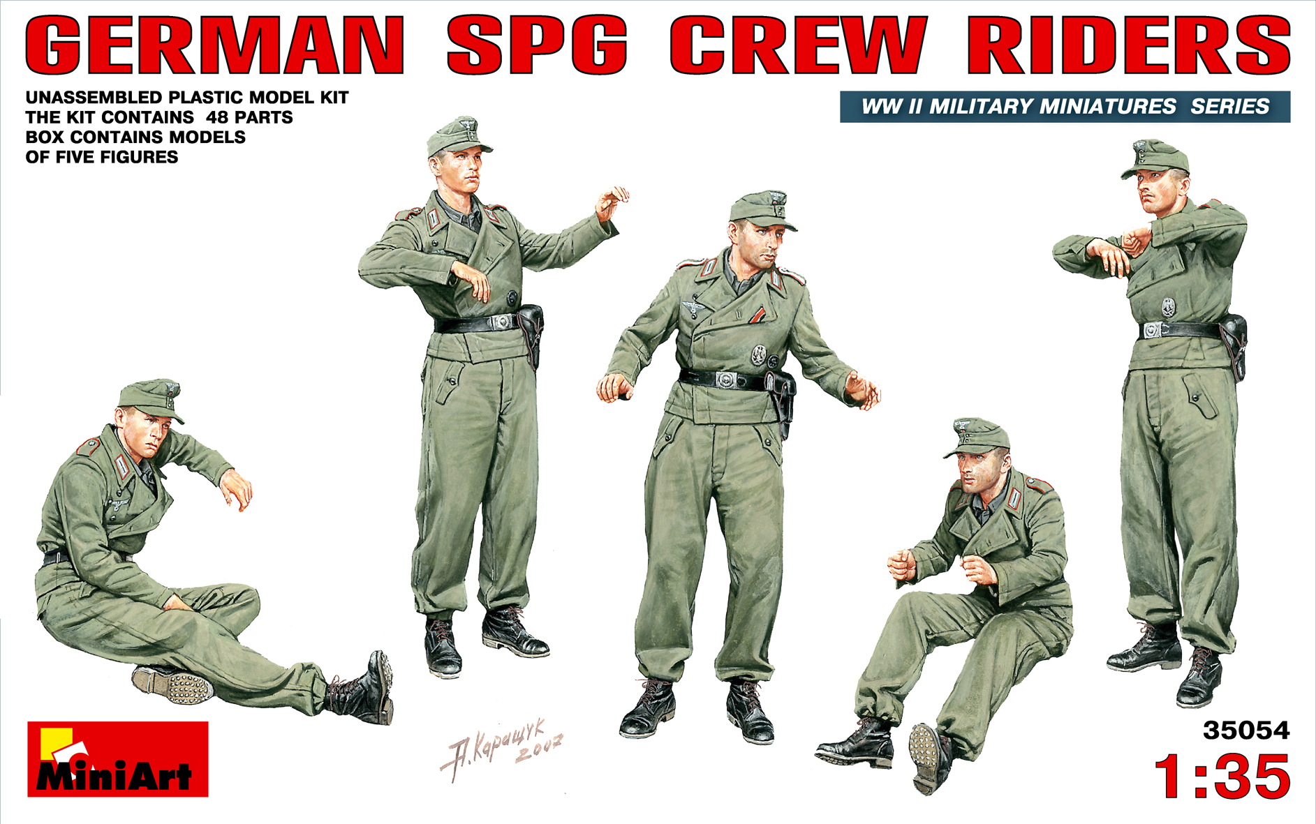 35054 GERMAN SPG CREW RIDERS