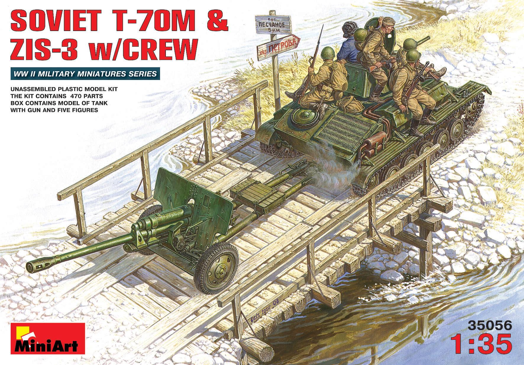 SOVIET T-70M & ZIS-3 w/CREW