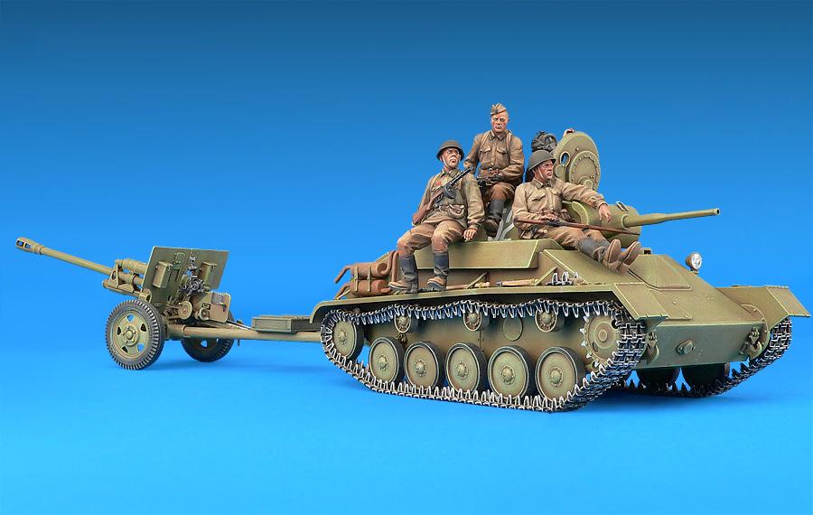 35056 SOVIET T-70M & ZIS-3 w/CREW