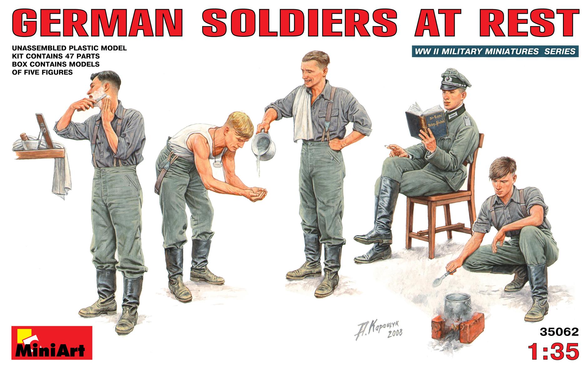 35062 德国士兵休息状态