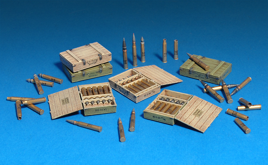 35064 SOVIET 57-mm & 76-mm SHELLS w/AMMO BOXES