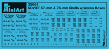 Content box 35064 SOVIET 57-mm & 76-mm SHELLS w/AMMO BOXES
