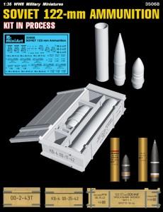 3D renders 35068 SOVIET 122-mm AMMUNITION