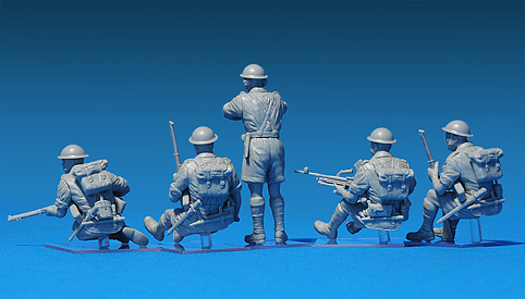 35071 BRITISH SOLDIERS TANK RIDERS