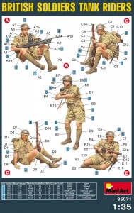 Content box 35071 BRITISH SOLDIERS TANK RIDERS