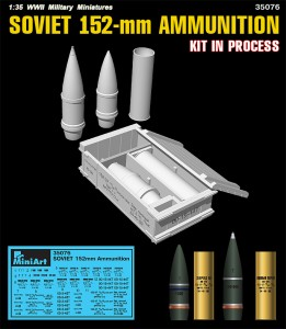 3D renders 35076 SOVIET 152-mm AMMUNITION