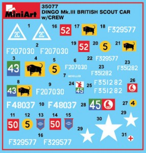 Content box 35077 DINGO Mk.III BRITISH SCOUT CAR w/CREW