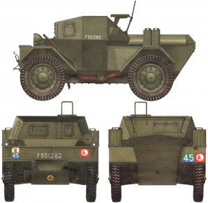 Side views 35077 DINGO MK. III BRITISCHER SPÄHWAGEN WITH CREW