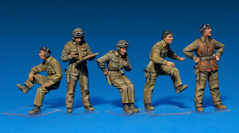 35078イギリス戦車兵セットフィギュア5体入