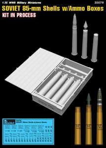 3D renders 35079 SOVIET 85-mm SHELLS w/AMMO BOXES