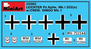 Content box 35082 LEICHTER Pz.kpfw. 202(e) с ЭКИПАЖЕМ (ДИНГО Mk.I)