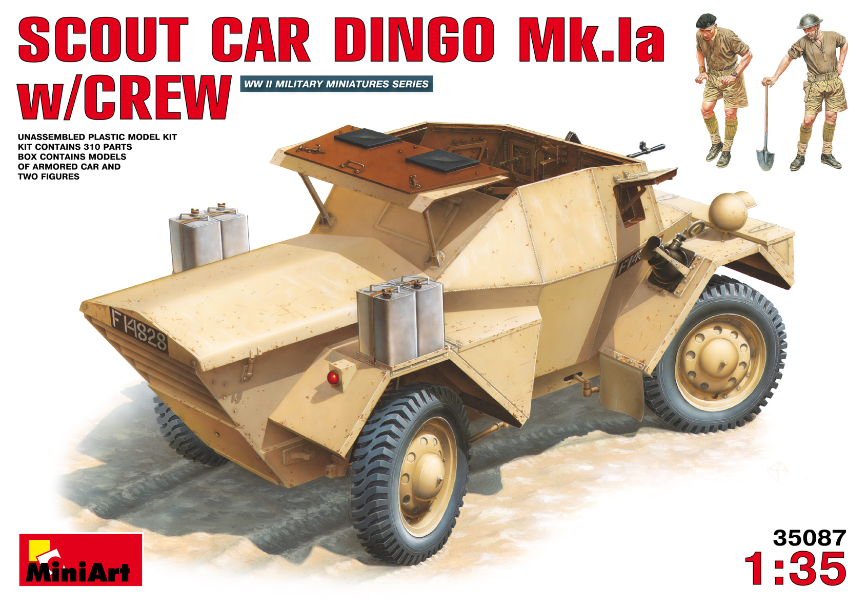 35087 SCOUT CAR DINGO Mk.1a w/CREW