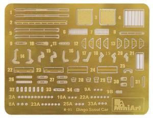 Content box 35087ディンゴイギリススカウトカ-MK.1aフィギュア2体付