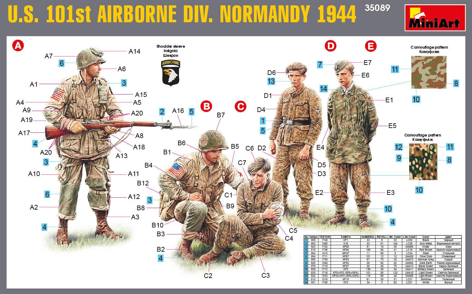 35089 U.S. 101st AIRBORNE DIVISION (NORMANDY 1944)
