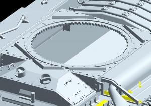 3D renders 35092バレンタインMKⅣ歩兵戦車ソビエト軍仕様フィギュア5体付